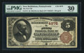 National Bank Notes:Pennsylvania, New Bethlehem, PA - $5 1882 Brown Back Fr. 474 The First NB Ch. #4978. ...