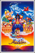 "Movie Posters:Animation, Aladdin & Other Lot (Buena Vista, 1992). One Sheets (2) (27"" X 40"" & 27"" X 41"") SS Regular & DS Advance. Animation.. ... (Total: 2 Items)"