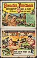 "Movie Posters:Adventure, Bengal Brigade & Others Lot (Universal International, 1954).Half Sheets (3) (22"" X 28"") Styles A & B. Adventure.. ...(Total: 3 Items)"