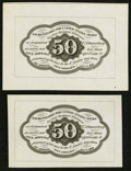 Fractional Currency:First Issue, Fr. 1313SP 50¢ First Issue Wide Margin Reverse Pair Choice New..... (Total: 2 notes)