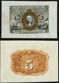 Fractional Currency:Second Issue, Fr. 1232SP 5¢ Second Issue Bright Margin Pair New.. ... (Total: 2 notes)