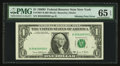 Error Notes:Partial Third Printing, Fr. 1907-B $1 1969D Federal Reserve Note. PMG Gem Uncirculated 65 EPQ.. ...
