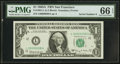 Low Serial Number L00000008A Fr. 1901-L $1 1963A Federal Reserve Note. PMG Gem Uncirculated 66 EPQ