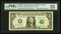 Error Notes:Mismatched Serial Numbers, Fr. 1932-B* $1 2006 Federal Reserve Note. PMG Very Fine 25.. ...