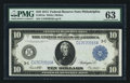 Fr. 915a $10 1914 Federal Reserve Note PMG Choice Uncirculated 63