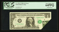 Error Notes:Foldovers, Fr. 1912-F $1 1981A Federal Reserve Note. PCGS Very Choice New64PPQ.. ...
