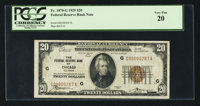 Low Serial Number Fr. 1870-G $20 1929 Federal Reserve Bank Note. PCGS Very Fine 20