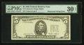 Error Notes:Obstruction Errors, Fr. 1978-? $5 1985 Federal Reserve Note. PMG Very Fine 30 EPQ.. ...