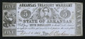 Obsoletes By State:Arkansas, (Little Rock), AR- State of Arkansas $5 Apr. 4, 1862 Cr. 50. ...