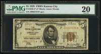Fr. 1850-J* $5 1929 Federal Reserve Bank Note. PMG Very Fine 20