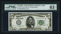 Small Size:Federal Reserve Notes, Fr. 1951-H $5 1928A Federal Reserve Note. PMG Choice Uncirculated 63 EPQ.. ...