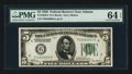 Small Size:Federal Reserve Notes, Fr. 1950-F $5 1928 Federal Reserve Note. PMG Choice Uncirculated 64 EPQ.. ...