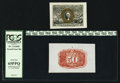 Fractional Currency:Second Issue, Fr. 1314SP 50¢ Second Issue Wide Margin Pair.. ... (Total: 2 notes)