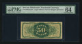 Fractional Currency:Third Issue, Fr. 1339SP 50¢ Third Issue Spinner Type II Narrow Margin Back PMG Choice Uncirculated 64.. ...