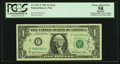 Fr. 1911-F $1 1981 Federal Reserve Note. PCGS Apparent Choice About New 58