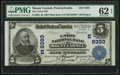 National Bank Notes:Pennsylvania, Mount Carmel, PA - $5 1902 Plain Back Fr. 600 The Union NB Ch. #(E)8393. ...
