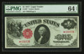 Large Size:Legal Tender Notes, Fr. 36* $1 1917 Legal Tender PMG Choice Uncirculated 64 EPQ.. ...