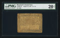 Colonial Notes:Maryland, Maryland August 14, 1776 $1 1/3 PMG Very Fine 20 Net.. ...