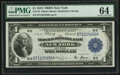Fr. 713 $1 1918 Federal Reserve Bank Note PMG Choice Uncirculated 64