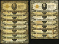 Fr. 2402 $20 1928 Gold Certificates. 15 Examples. Good or Better