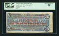 Confederate Notes:1864 Issues, North Georgia Fair Ad Note T67 $20 1864.. ...