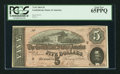 Confederate Notes:1864 Issues, Fully Framed T69 $5 1864.. ...