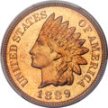 Proof Indian Cents, 1889 1C PR65 Red PCGS. CAC....