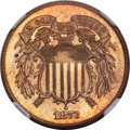 Proof Two Cent Pieces, 1873 2C Open 3 PR64 Red and Brown NGC....