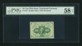 Fractional Currency:First Issue, Fr. 1242 10¢ First Issue PMG Choice About Unc 58 EPQ.. ...