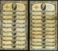 Small Size:Gold Certificates, Fr. 2400 $10 1928 Gold Certificates. 21 Examples. Very Good or Better.. ... (Total: 21 notes)