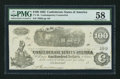 Confederate Notes:1862 Issues, CT40/298 Counterfeit $100 1862.. ...