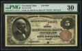 Cleveland, OH - $5 1882 Brown Back Fr. 466 The First NB Ch. # 2690
