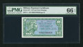 Military Payment Certificates:Series 611, Series 611 10¢ PMG Gem Uncirculated 66 EPQ.. ...