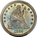 Proof Seated Quarters, 1884 25C PR67 PCGS. Briggs 2-B....