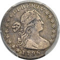 Early Half Dimes, 1796 H10C LIKERTY, V-1, LM-1, R.3, VF30 PCGS. CAC....