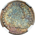 Early Dimes, 1797 10C 16 Stars, JR-1, R.4 -- Environmental Damage -- NGC Details. AU....