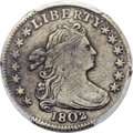 Early Dimes, 1802 10C JR-4, R.4 -- Environmental Damage -- PCGS Genuine. XF Details....