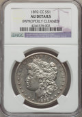 Morgan Dollars: , 1892-CC $1 -- Improperly Cleaned -- NGC Details. AU. Mintage 1,352,000. ...