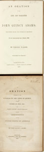 Books:Americana & American History, [John Quincy Adams]. Pair of Bound Orations by or about Adams.Various publishers, 1831 - 1848.... (Total: 2 )