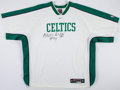 Basketball Collectibles:Uniforms, 1999-2001 Adrian Griffin Game Worn, Signed Boston Celtics WarmupJacket....