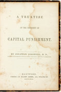 Books:Social Sciences, Jonathan Cogswell. A Treatise on the Necessity of CapitalPunishment. Hartford: Elihu Geer, 1843....