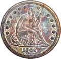 Proof Seated Quarters, 1863 25C PR64 PCGS. CAC. Briggs 4-D....