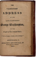 Books:Americana & American History, [George Washington]. The Valedictory Address of the LateIllustrious George Washington, to the People of the UnitedStat...