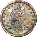 Proof Seated Quarters, 1857 25C PR65 NGC. CAC....