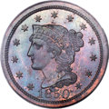 Proof Large Cents, 1850 1C PR64 Brown PCGS. N-11, R.7 as a Proof....