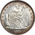 Seated Half Dollars, 1873 50C No Arrows, Closed 3, WB-103, MS65 PCGS. CAC....