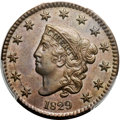 1829 1C Large Letters, N-2, R.2, MS64 Brown PCGS. CAC....(PCGS# 36913)