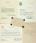 Autographs:Authors, Group Lot of Five Autographs by Religious Leaders as follows:. ...