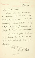 Autographs:Authors, Edward Everett Hale Autograph Letter Signed. ...