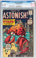 Silver Age (1956-1969):Mystery, Tales to Astonish #10 (Marvel, 1960) CGC VG/FN 5.0 Off-white towhite pages....